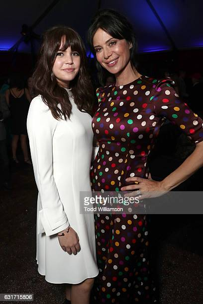 Bailee Madison and Catherine Bell attend the Hallmark Channel And Hallmark Movies And Mysteries Winter 2017 TCA Press Tour at The Tournament House on...