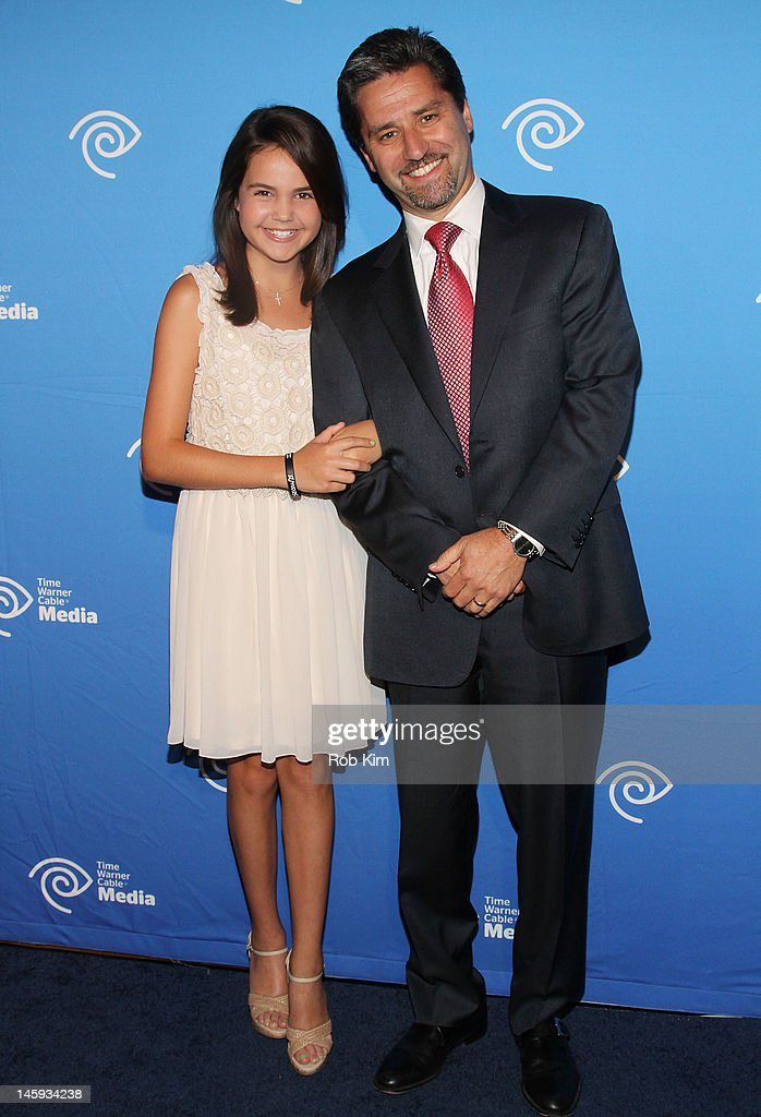 Bailee Madison (L) and Rob Marcus of Time Warner Cable attend the Time Warner Cable Media 'Cabletime' Upfront at Yotel Hotel on June 7, 2012 in New York City.