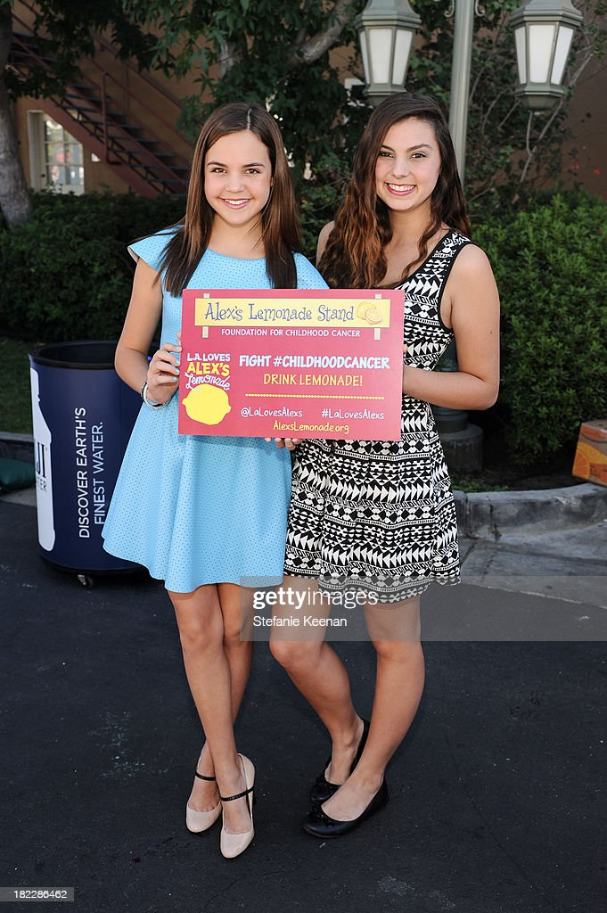 Bailee Madison and Taylor Hay attend LA Loves Alex's Lemonade event at Culver Studios on September 28, 2013 in Culver City, California.