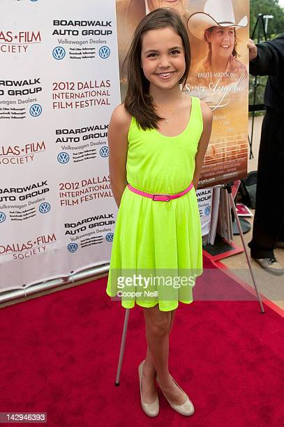 Bailee Madison arrives for day three of the 2012 Dallas International Film Festival on April 14 2012 in Dallas Texas