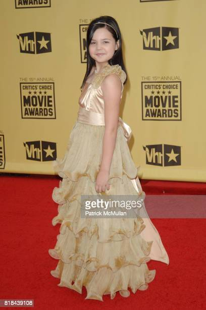 Bailee Madison attends 2010 Critics Choice Awards at The Palladium on January 15 2010 in Hollywood California