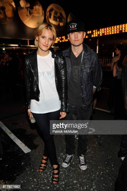 Bailey Beckstead and Kai Regan attend ALEXANDER WANG After Party at Edison Parking Lot on September 11 2010 in New York City