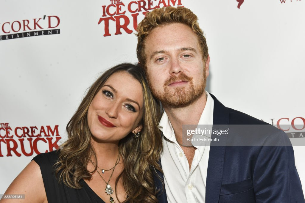 Bailey Borders (L) and Emil Johnsen attend the premiere of Uncork'd Entertainment's 'The Ice Cream Truck' at Ahrya Fine Arts Movie Theater on August 17, 2017 in Beverly Hills, California.
