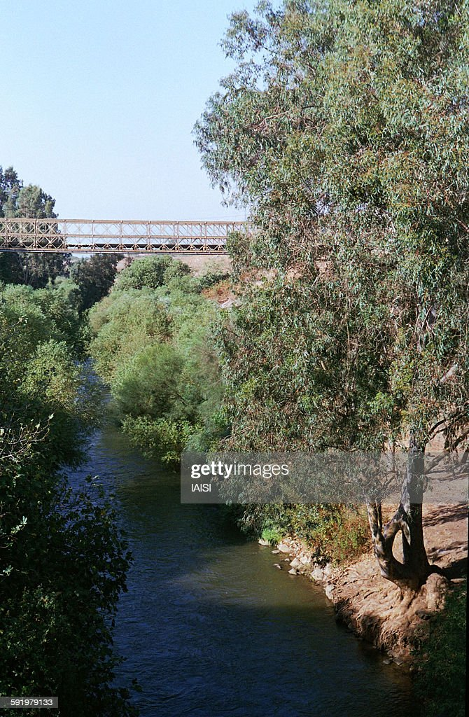 Bailey bridge over the Jordan river