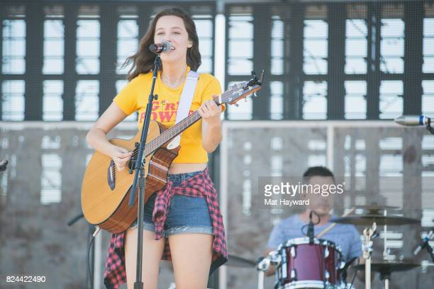 Bailey Bryan performs on stage during the Watershed Music Festival at the Gorge Amphitheatre on July 29 2017 in George Washington