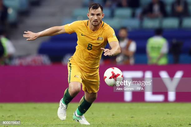 Bailey Wright of Australia controles the ball during the FIFA Confederations Cup Russia 2017 Group B match between Australia and Germany at Fisht...