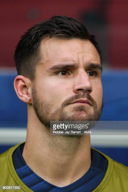 Bailey Wright of Australia during the FIFA Confederations Cup Russia 2017 Group B match between Chile and Australia at Spartak Stadium on June 25...