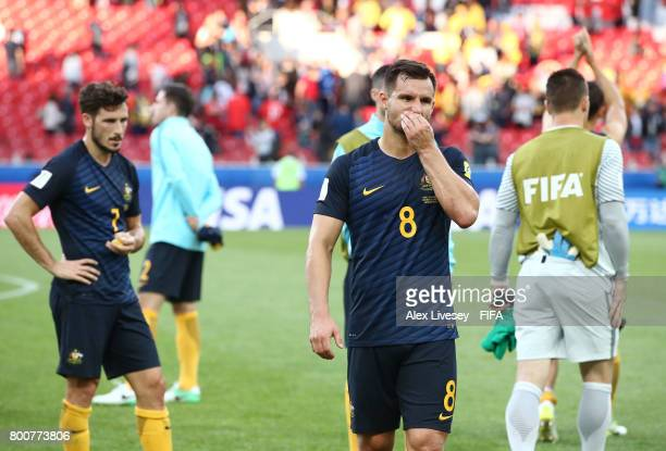 Bailey Wright of Australia looks dejected after the FIFA Confederations Cup Russia 2017 Group B match between Chile and Australia at Spartak Stadium...