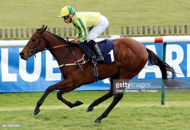 Baileys Jubilee and jockey Silvestre De Sousa go on to win the equestrianartukcom Conditions Stakes during the Craven Meeting at Newmarket Racecourse...