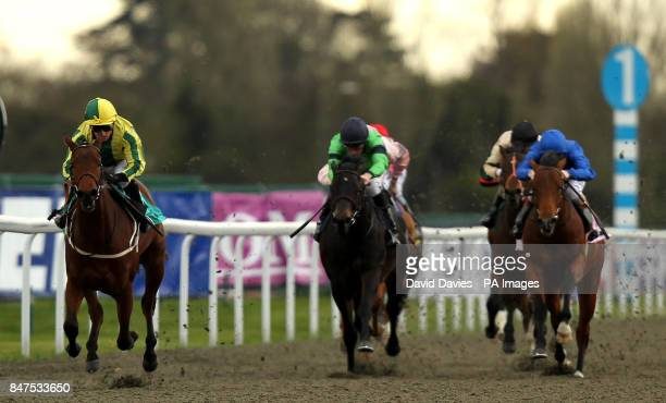 Baileys Jubilee ridden by Silvestre De Sousa on their way to victory in the Betfred The Bonus King Bingo/British Stallion Studs E B F Maiden Stakes...