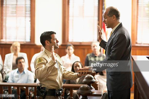 Bailiff Swears in Witness