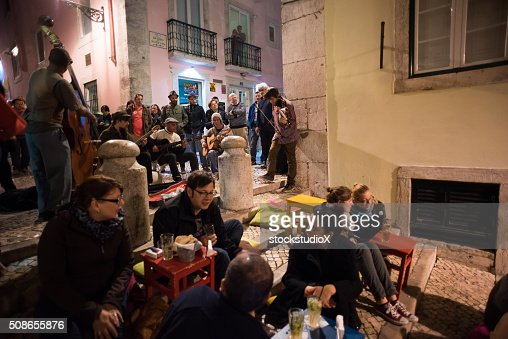 Bairro Alto, Lisbon, Portugal : Stock Photo