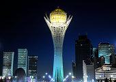 Kazakhstan Astana Baiterek Tower cityscape.
