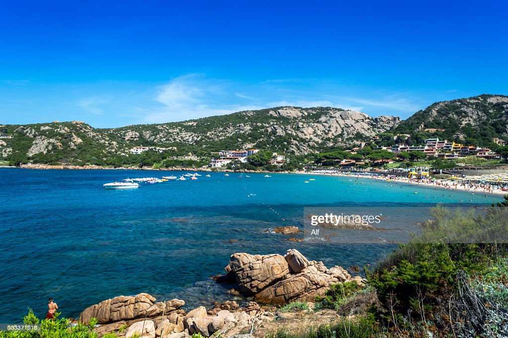 Baja Sardinia Italy  City pictures : Baja Sardinia Beach In Sardinia Italy Stock Photo | Getty Images