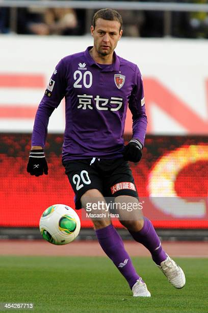 Bajalica of Kyoto Sanga in action during the JLeague PlayOff final match between Kyoto Sanga and Tokushima Vortis at the National Stadium on December...