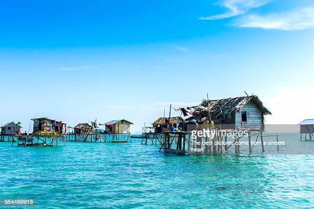 Bajau floating village