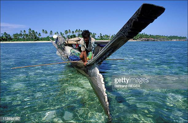 Bajau people in Northern Borneo In Malaysia In 1993Floating home a Lepa