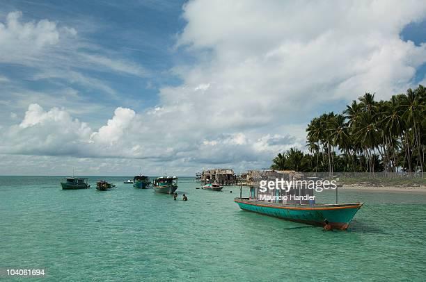 Bajau sea gypsy compound on Dinawan Island Dinawan Island Sabah Malaysia