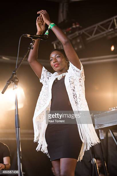 Bajka Pluwatsch of Bonobo performs on stage during the second day of Sonar Festival on June 13 2014 in Barcelona Spain