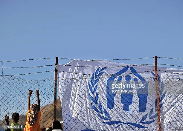 BAKANOChildren listen on December 4 2010 to UN refugee agency chief Antonio Guterres at internally displaced people's camp near Djibouti's capital...