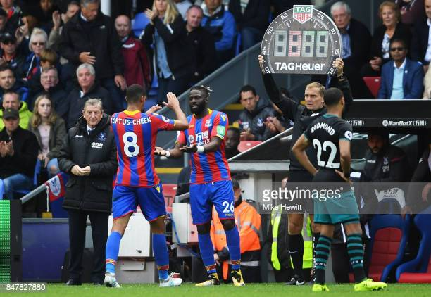 Bakary Sako of Crystal Palace comes on for Ruben LoftusCheek of Crystal Palace during the Premier League match between Crystal Palace and Southampton...