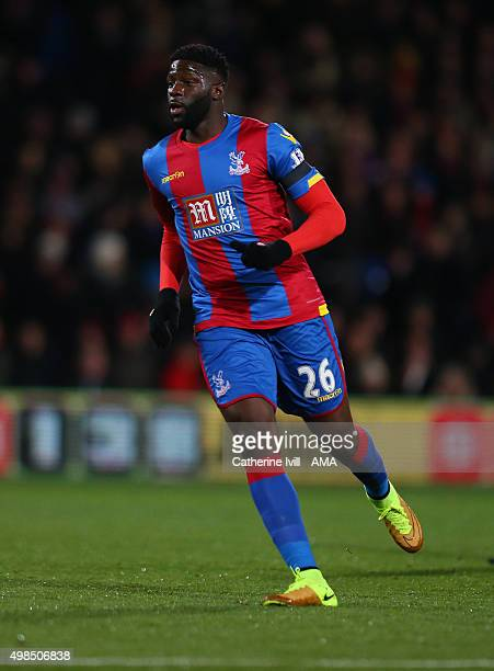 Bakary Sako of Crystal Palace during the Barclays Premier League match between Crystal Palace and Sunderland at Selhurst Park on November 23 2015 in...