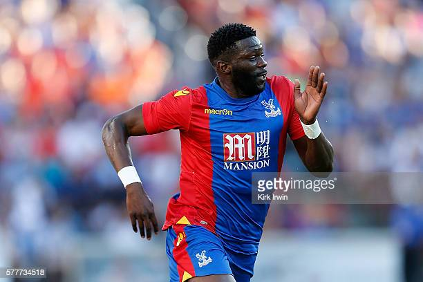 Bakary Sako of Crystal Palace FC chases after the ball during the match against FC Cincinnati at Nippert Stadium on July 16 2016 in Cincinnati Ohio