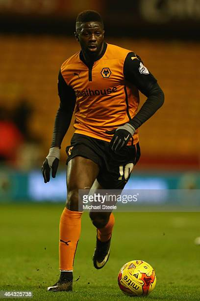 Bakary Sako of Wolverhampton during the Sky Bet Championship match between Wolverhampton Wanderers and Fulham at Molineux on February 24 2015 in...