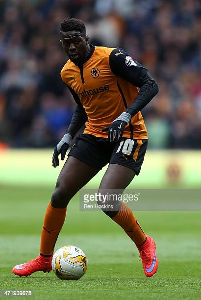 Bakary Sako of Wolves in action during the Sky Bet Championship match between Wolverhampton Wanderers and Millwall at Molineux on May 2 2015 in...