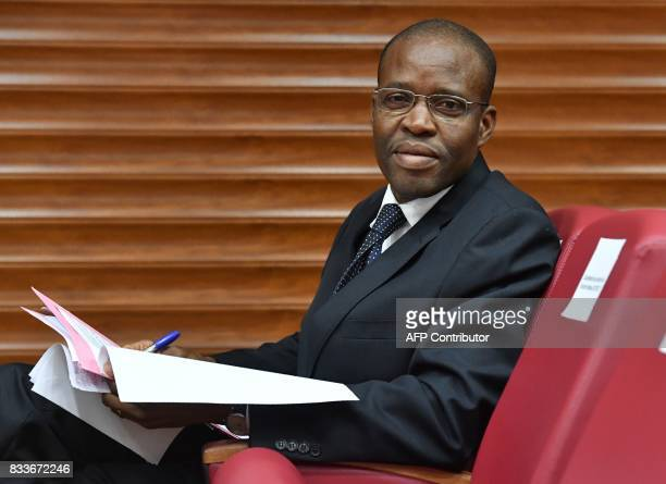 Bakary Snaogo special advisor to the Ivorian prime minister and new director of the Information and Communication Center attends the signing of an...