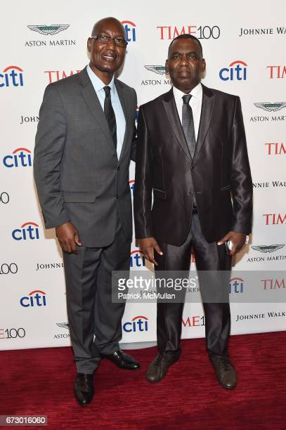 Bakary Tandia and Biram Dah Abeid attend the 2017 TIME 100 Gala at Jazz at Lincoln Center on April 25 2017 in New York City