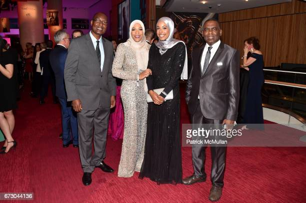 Bakary Tandia Ibtihaj Muhammad Aya Elsekhely and Biram Dah Abeid attend the 2017 TIME 100 Gala at Jazz at Lincoln Center on April 25 2017 in New York...