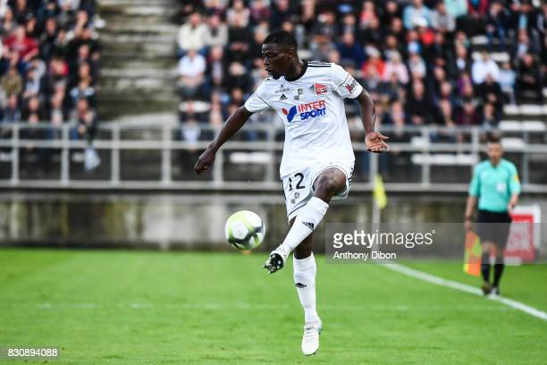 Bakaye Dibassy of Amiens during the Ligue 1 match between Amiens SC and Angers SCO at Stade de la Licorne on August 12 2017 in Amiens