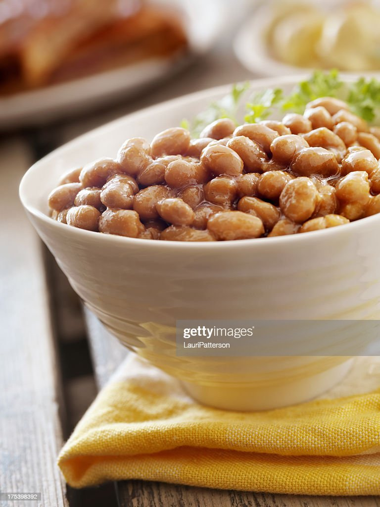 Baked Beans at a Picnic : Stock Photo