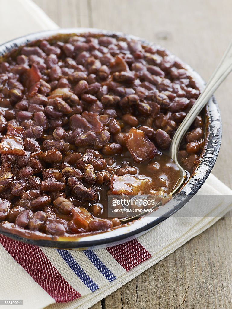 Baked Beans with pork : Stock Photo