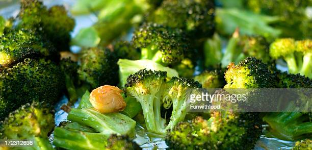 Baked Broccoli & Roasted Vegetables with Sauteed Fresh Garlic