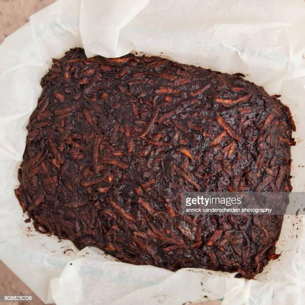 Baked brownie of sweet poato.