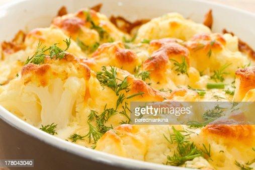 Baked Cauliflower : Stock Photo