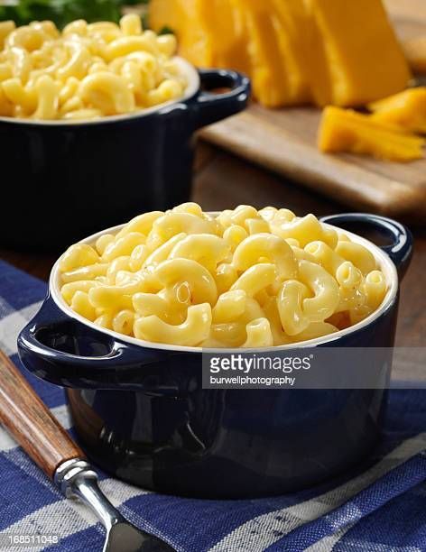 Baked macaroni and cheese prepared for lunch time