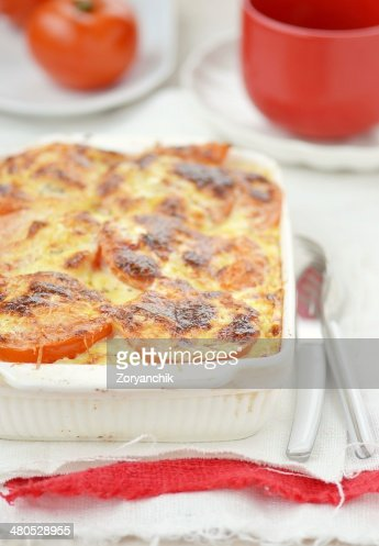 baked rockfish with rice and tomatoes : Stock Photo