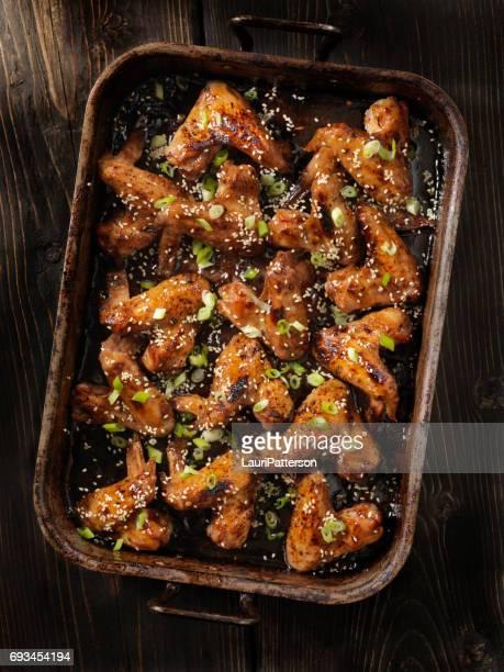 Baked Teriyaki Whole Chicken Wings