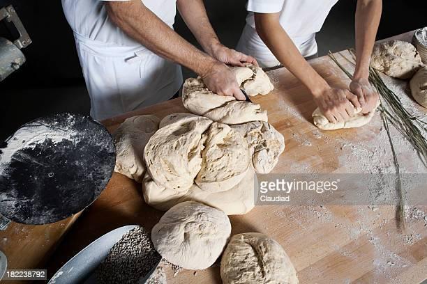 Baker et son fils Pâte à pétrir