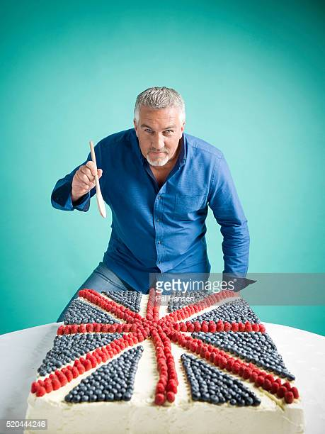 Baker and tv presenter Paul Hollywood is photographed for the Observer on May 28 2015 in London England