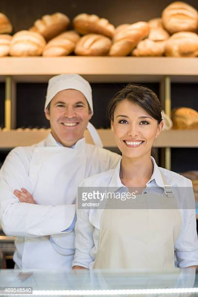 Baker et serveus'au bakery