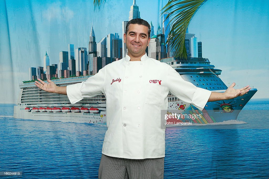 Baker <a gi-track='captionPersonalityLinkClicked' href=/galleries/search?phrase=Buddy+Valastro&family=editorial&specificpeople=5810322 ng-click='$event.stopPropagation()'>Buddy Valastro</a> attends the Norwegian Warming Station launch in Times Square on January 28, 2013 in New York City.