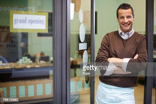 Baker in Shop Doorway