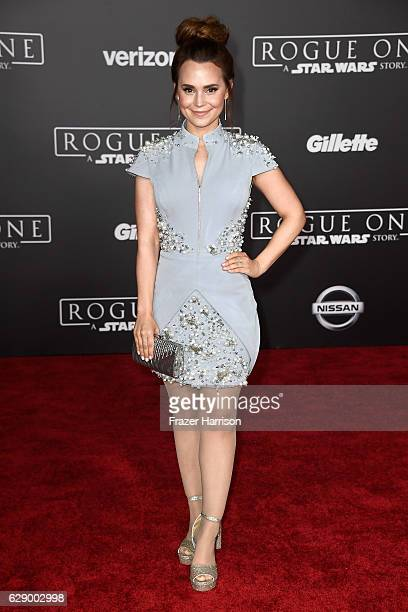 Baker Rosanna Pansino attends the premiere of Walt Disney Pictures and Lucasfilm's 'Rogue One A Star Wars Story' at the Pantages Theatre on December...