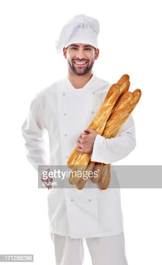 Baker With Fresh Bread