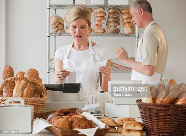 Bakers in a bakery