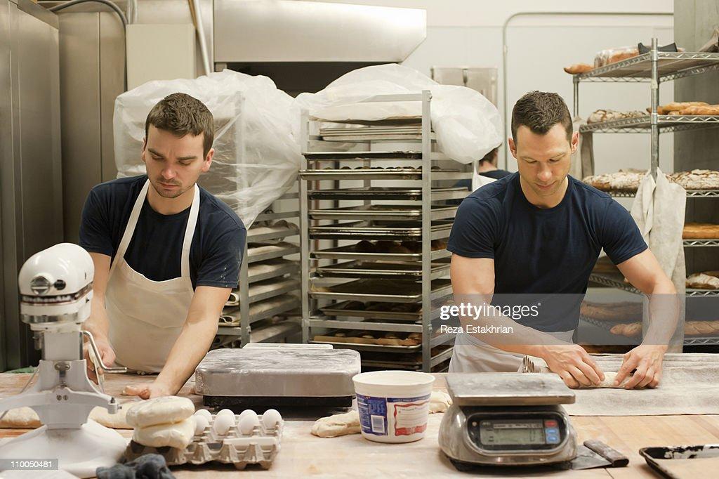 Bakers prepare bread